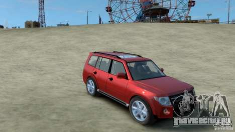 Mitsubishi Pajero для GTA 4 вид сзади слева