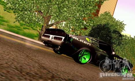 Shelby GT500 Monster Drift для GTA San Andreas вид снизу