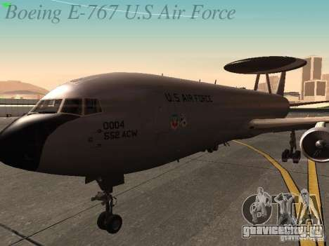 Boeing E-767 U.S Air Force для GTA San Andreas вид сбоку