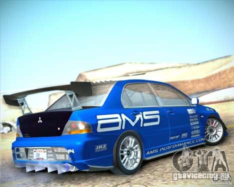 Mitsubishi Lancer Evolution IX Tunable для GTA San Andreas вид слева