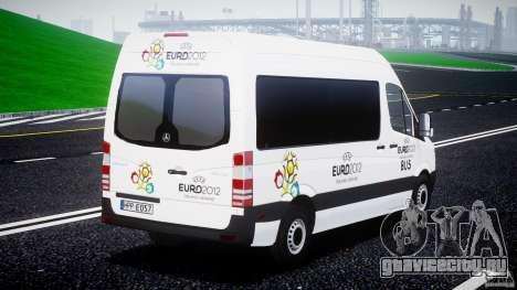Mercedes-Benz Sprinter Euro 2012 для GTA 4 вид сбоку