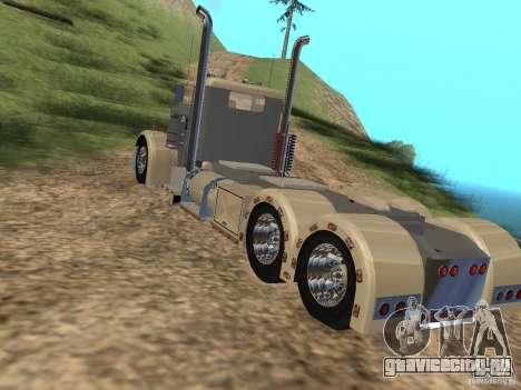 Pimped Peterbilt 381 для GTA San Andreas вид сзади слева
