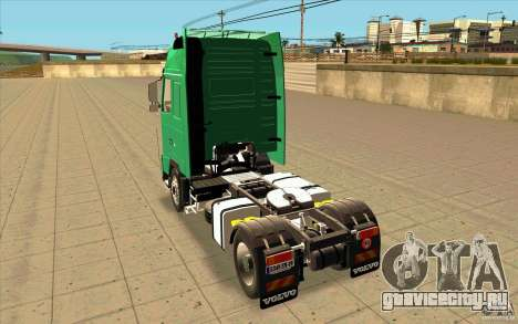 Volvo FH16 Globetrotter Officiel для GTA San Andreas вид сзади слева
