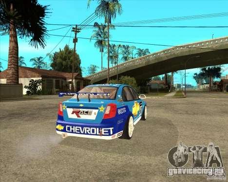 Chevrolet Lacetti WTCC для GTA San Andreas вид сзади слева