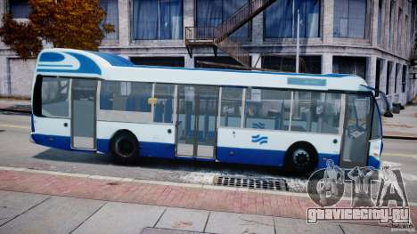 DAF Berkhof City Bus Amsterdam для GTA 4 вид слева