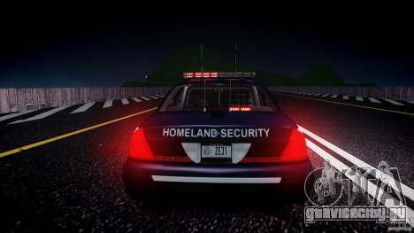 Ford Crown Victoria Homeland Security [ELS] для GTA 4 вид снизу
