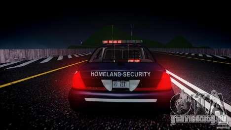 Ford Crown Victoria Homeland Security [ELS] для GTA 4 вид снизу