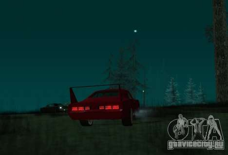 Dodge Charger Daytona для GTA San Andreas вид сзади слева