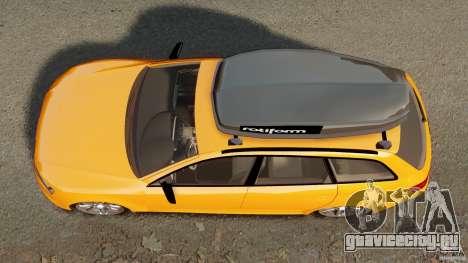 Audi A6 Avant Stanced 2012 v2.0 для GTA 4 вид справа