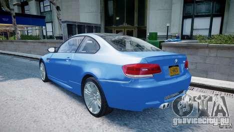 BMW M3 E92 2008 v.2.0 для GTA 4 вид сзади слева