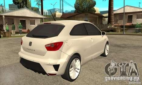Seat Ibiza Cupra 2009 для GTA San Andreas вид справа