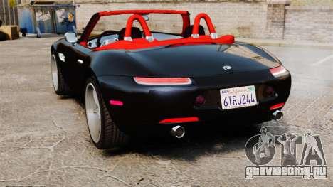 BMW Z8 2000 для GTA 4 вид сзади слева