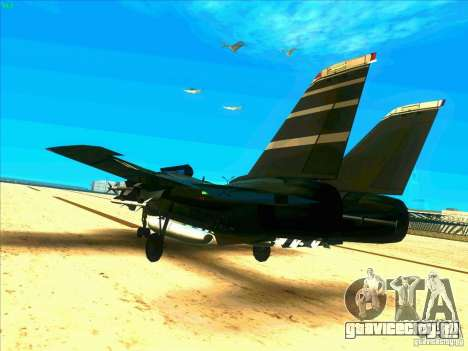 F-14 Tomcat Schnee для GTA San Andreas вид сзади слева