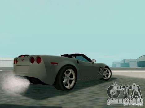 Chevrolet Corvette C6 GS Convertible 2012 для GTA San Andreas вид сзади слева