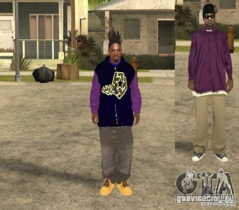 Skinpack Ballas для GTA San Andreas четвёртый скриншот