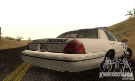 Ford Crown Victoria Arkansas Police для GTA San Andreas вид справа
