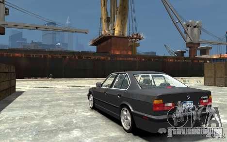 BMW 540i E34 v3.0 для GTA 4 вид сзади слева