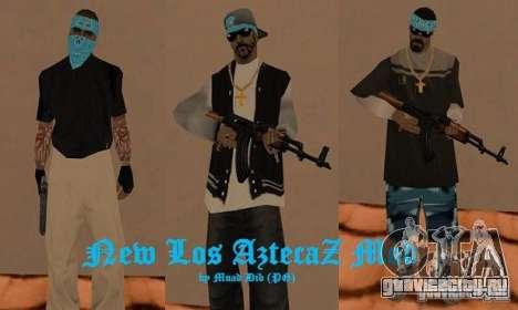 New Los Aztecas skins для GTA San Andreas