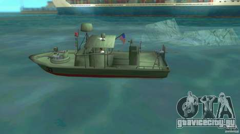 Patrol Boat River Mark 2 (Player_At_Wheel) для GTA Vice City вид слева