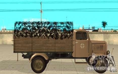 MERCEDES-BENZ L3000 v2.0 для GTA San Andreas вид слева