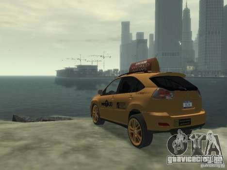 Lexus RX400 New York Taxi для GTA 4 вид справа