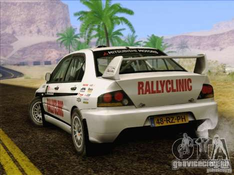 Mitsubishi Lancer Evolution IX Rally для GTA San Andreas двигатель
