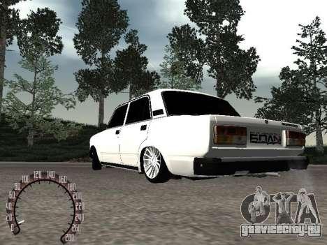 Ваз 2107 БПАN для GTA San Andreas вид слева