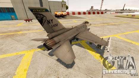 F-16C Fighting Falcon для GTA 4 вид сзади слева