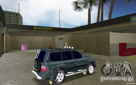 Toyota Land Cruiser 100 для GTA Vice City вид справа