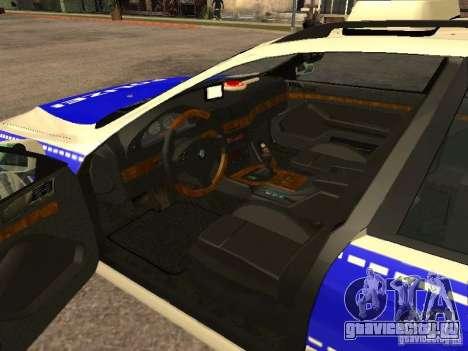 BMW 525i Touring Police для GTA San Andreas вид сзади слева