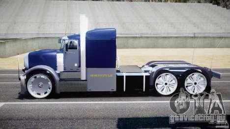 Peterbilt Truck Custom для GTA 4 вид изнутри