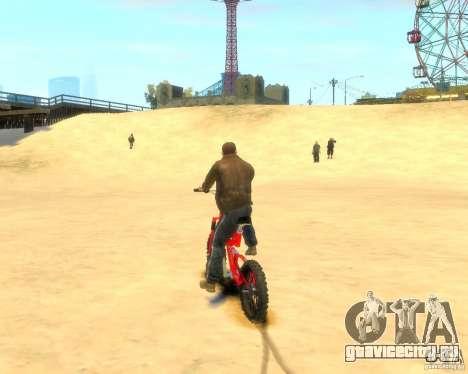 Mountain bike для GTA 4 вид сзади слева