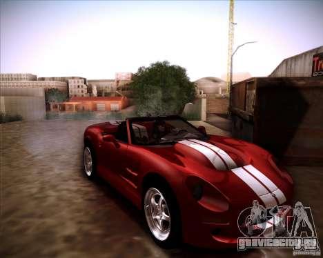 Shelby Series One 1998 для GTA San Andreas вид сзади слева