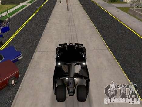 Tumbler Batmobile 2.0 для GTA San Andreas вид сзади