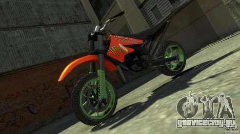 Stunt Supermotard Sanchez для GTA 4 вид справа