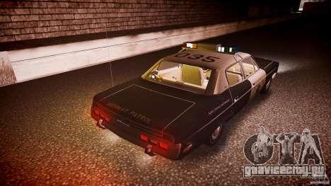 AMC Matador CHP [ELS] для GTA 4 двигатель