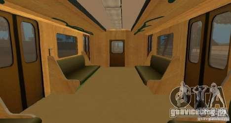 Метро типа ЕЖ для GTA San Andreas вид изнутри