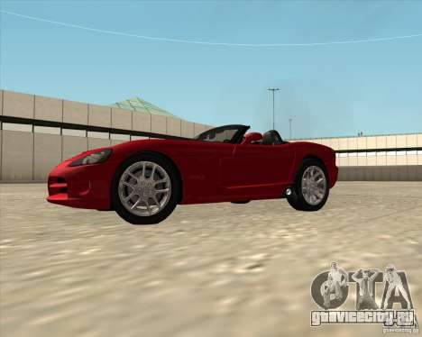 Dodge Viper SRT-10 Roadster для GTA San Andreas вид справа