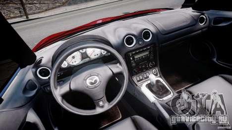 Mazda MX-5 Miata для GTA 4 вид сзади