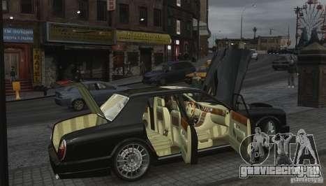 Bentley Arnage T v 2.0 для GTA 4 вид снизу
