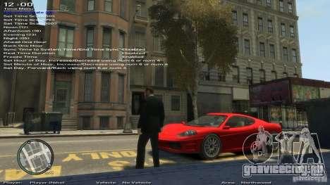 Simple Trainer Version 6.2 для 1.0.1.0 - 1.0.0.4 для GTA 4 девятый скриншот
