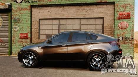 BMW X6 M 2010 для GTA 4 вид слева