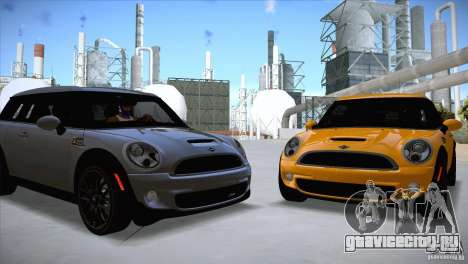 MINI Cooper Clubman JCW 2011 для GTA San Andreas вид слева