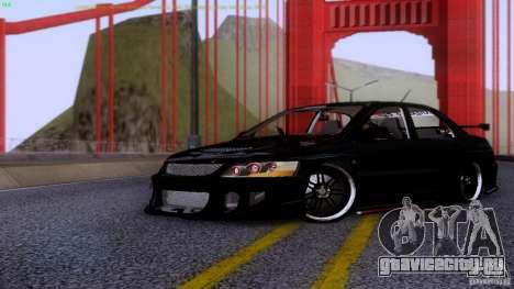 Mitsubishi Lancer Evolution 8 Drift для GTA San Andreas вид слева
