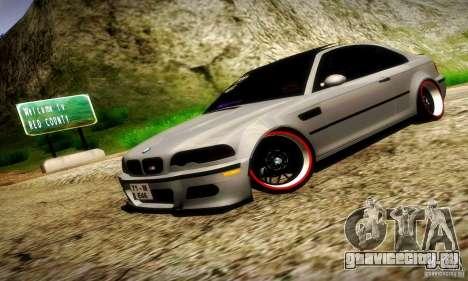 BMW M3 JDM Tuning для GTA San Andreas вид сбоку