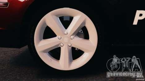 Dodge Charger RT Max Police 2011 [ELS] для GTA 4 вид слева