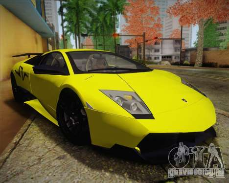 Lamborghini Murcielago LP 670/4 SV Fixed Version для GTA San Andreas вид справа