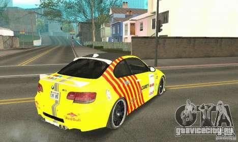 BMW M3 2008 Hamann v1.2 для GTA San Andreas двигатель