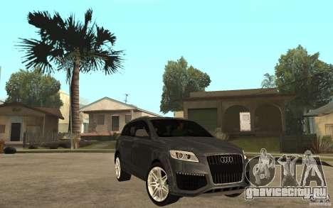 Audi Q7 TDI 2009 для GTA San Andreas вид сзади