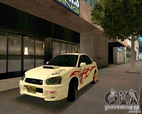 Subaru Impreza WRX STi Tunable для GTA San Andreas